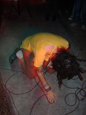 kneeling head down