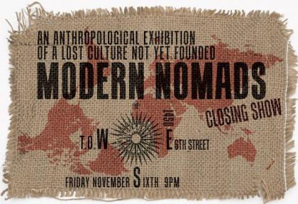 screenprinted burlap canvas material world map anthropological exhibition