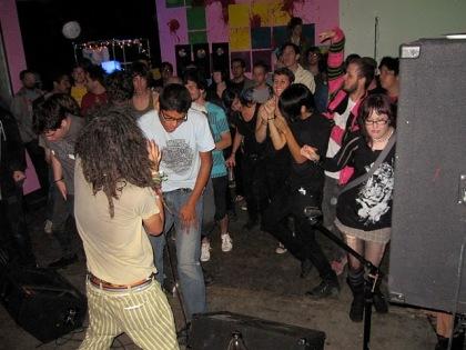 serenading the crowd