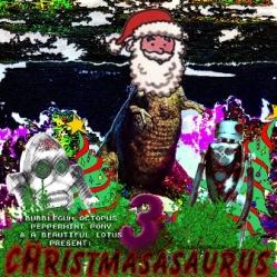 dinosaur santa robots glitchy art ehafh