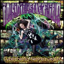 digital mayhem goth metal girl rainbow neon cables wires