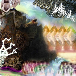 abstract digital collage diamonds artwork