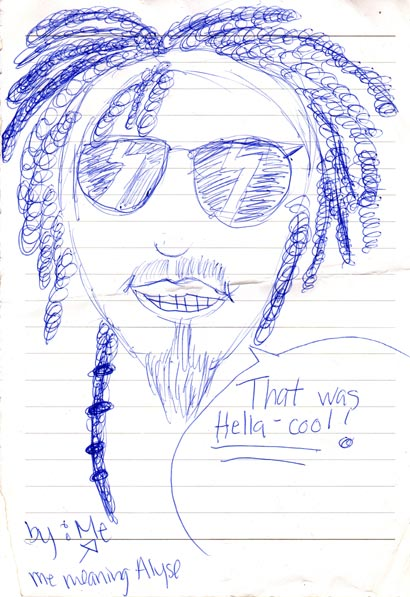 pen drawing tleilax saying that was hella cool