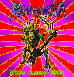 crazy weird alien monster creature weilding guitar screaming neon psychedelic colors taylor shechet katie broad