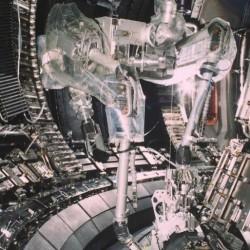 science robot machine arm factory
