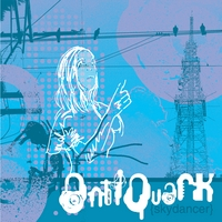 blue tones girl outline powerlines bird tower