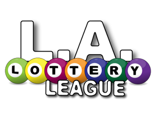 los angeles lottery league pool balls logo