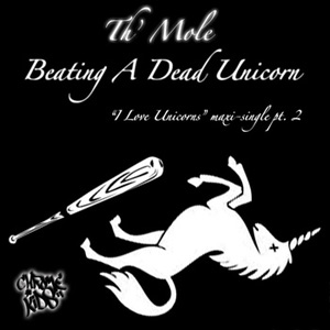 th' mole dead unicorn baseball bat chrome kids logo