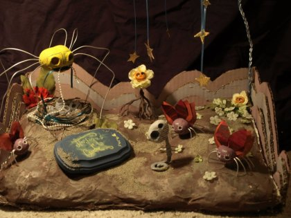 tleilaxu's garden by kelsie gygi fishrib flau spiders infinity bug flowers birds nest head eggs