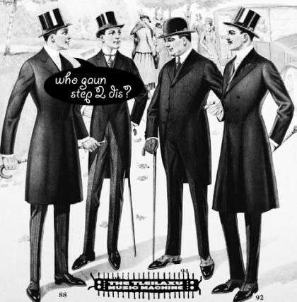 cultured gentlemen top hats one asking who gaun step 2 dis? the tleilaxu music machine centipillar caterpede